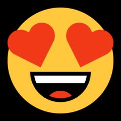 Hearted-eyes emoji