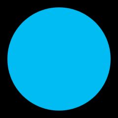 Blue dot emoji