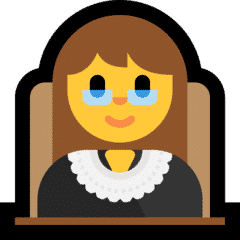 Woman lawyer emoji
